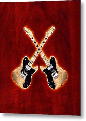 Fender Telecaster Custom Metal Print by Doron Mafdoos