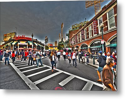 Fenway Park And Cask And Flagon Metal Print by Toby McGuire