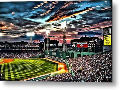 Fenway Park At Sunset Metal Print
