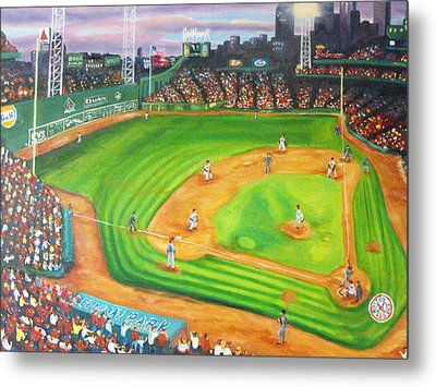 Fenway Park Fantasy Metal Print by Michell Givens