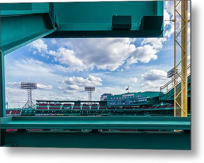 Fenway Park From The Green Monster Metal Print by Tom Gort