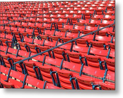 Fenway Park Grandstand Seats I Metal Print by Clarence Holmes