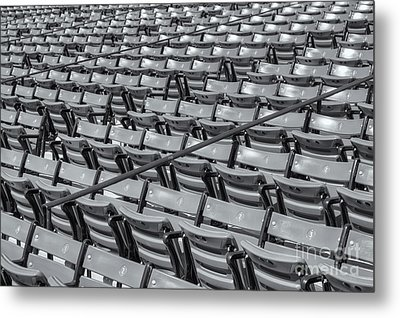Fenway Park Grandstand Seats II Metal Print by Clarence Holmes
