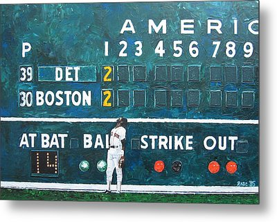 Fenway Park - Green Monster Metal Print