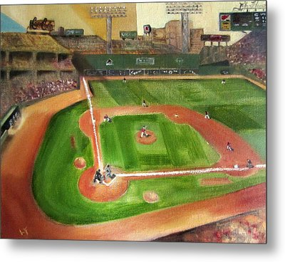 Fenway Park Metal Print by Lindsay Frost
