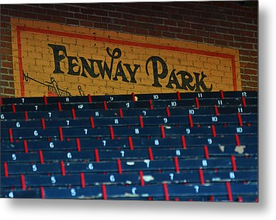 Fenway Park Sign And Seats Metal Print by Toby McGuire