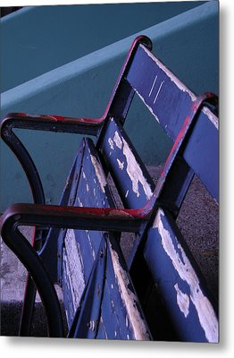 Fenway Park Third Base Seat Metal Print