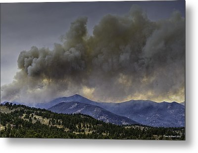 Fern Lake Fire Metal Print by Tom Wilbert