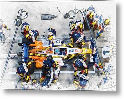 Fernando Alonso Metal Print