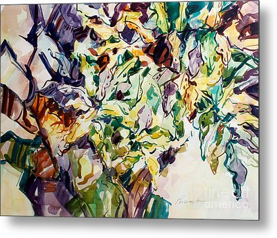 Metal Print featuring the painting Ferns And Bismark Lines  by Roger Parent