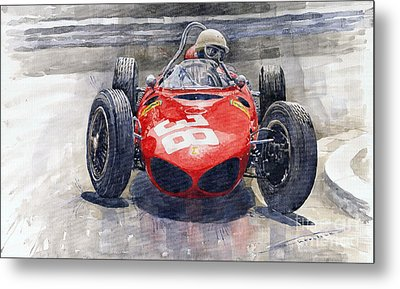 Ferrari 156 Sharknose Phil Hill Monaco 1961 Metal Print