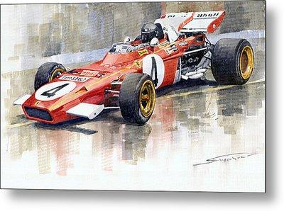 Ferrari 312 B2 1971 Monaco Gp F1 Jacky Ickx Metal Print by Yuriy  Shevchuk