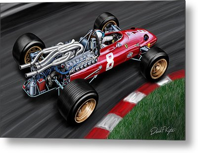 Ferrari 312 F-1 Car Metal Print by David Kyte