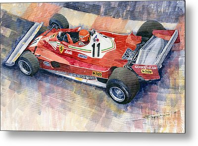 Ferrari 312 T2 Niki Lauda 1977 Monaco Gp Metal Print by Yuriy  Shevchuk