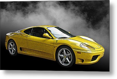 Ferrari 360 Modena Side View Metal Print