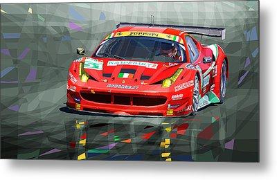 2012 Ferrari 458 Gtc Af Corse Metal Print