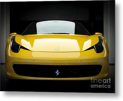 Metal Print featuring the photograph Ferrari 458 by Matt Malloy