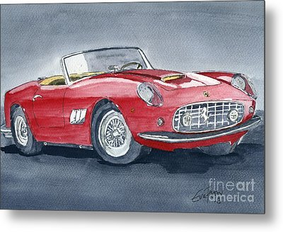 Metal Print featuring the painting Ferrari 62   250 Gt by Eva Ason