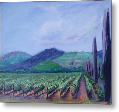 Ferrari Carano Vineyard Metal Print by Donna Tuten
