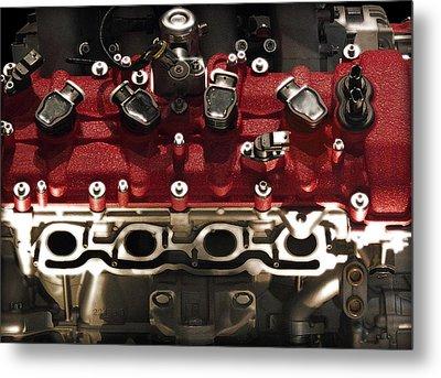 Ferrari Engine Metal Print by Radoslav Nedelchev