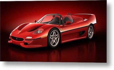 Ferrari F50 - Flare Metal Print