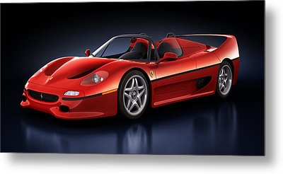 Ferrari F50 - Phantasm Metal Print by Marc Orphanos