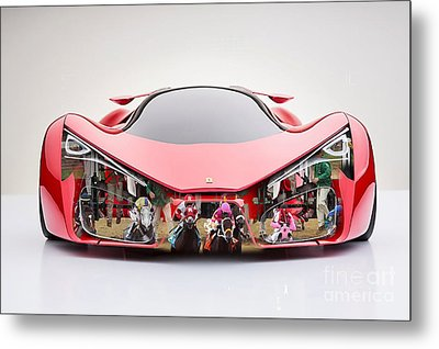 Ferrari F80 Race Horse Metal Print by Marvin Blaine