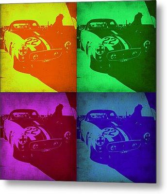 Ferrari Gto Pop Art 1 Metal Print by Naxart Studio