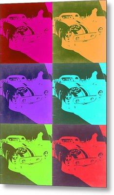 Ferrari Gto Pop Art 3 Metal Print by Naxart Studio