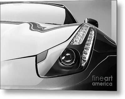 Metal Print featuring the photograph Ferrari Headlight by Matt Malloy