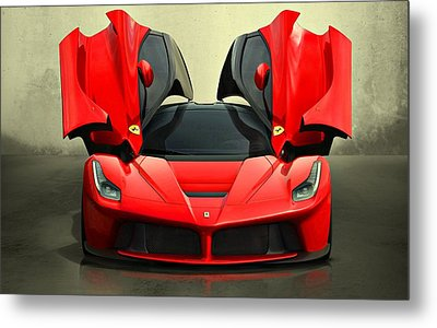 Ferrari Laferrari F 150 Supercar Metal Print by Movie Poster Prints