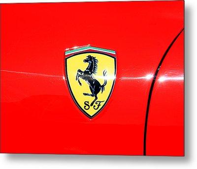 Ferrari Logo Metal Print