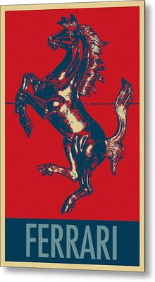 Ferrari Stallion In Hope Metal Print