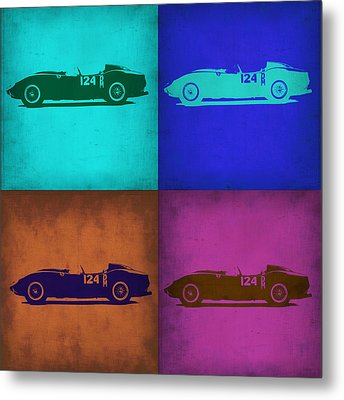 Ferrari Testa Rossa Pop Art 1 Metal Print by Naxart Studio
