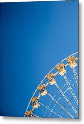 Ferris Wheel 1 Metal Print by Rebecca Cozart