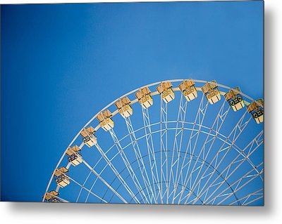 Ferris Wheel 3 Metal Print by Rebecca Cozart