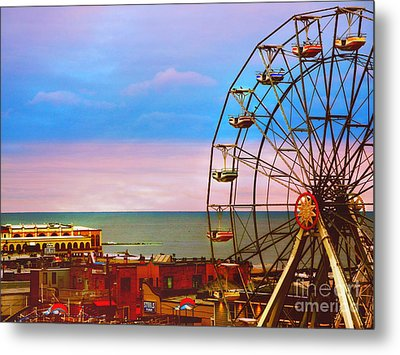 Ocean City New Jersey Ferris Wheel And Music Pier Metal Print