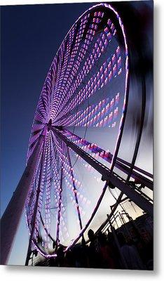 Ferris Wheel Metal Print by Chris Babcock