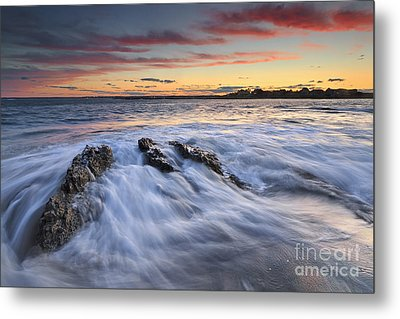 Ferry Beach Sunset Metal Print by Katherine Gendreau