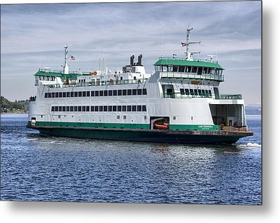 Ferry Boat Chetzemoka  Metal Print by Bob Noble Photography