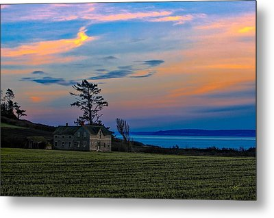 Ferry House Sunset Metal Print by Rick Lawler