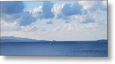 Ferry On Time Metal Print by George Katechis