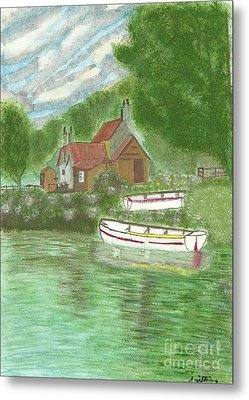 Ferryman's Cottage Metal Print by Tracey Williams