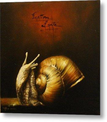 Festina Lente Metal Print by Simone Galimberti