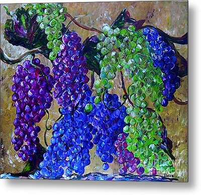 Metal Print featuring the painting Festival Of Grapes by Eloise Schneider