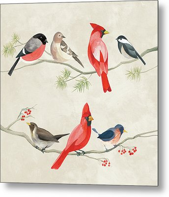 Festive Birds I Metal Print by Danhui Nai