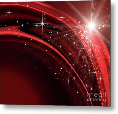 Festive Holiday Background  Metal Print by Sandra Cunningham