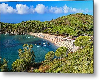 Fetovaia Beach - Elba Island Metal Print