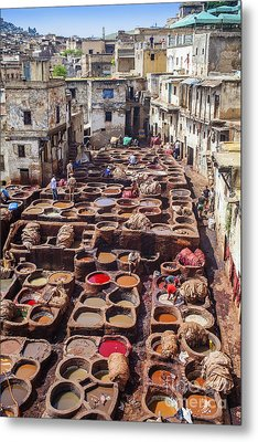 Fez Tannery Metal Print by Patricia Hofmeester