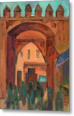 Fez Town Scene Metal Print by Diane McClary